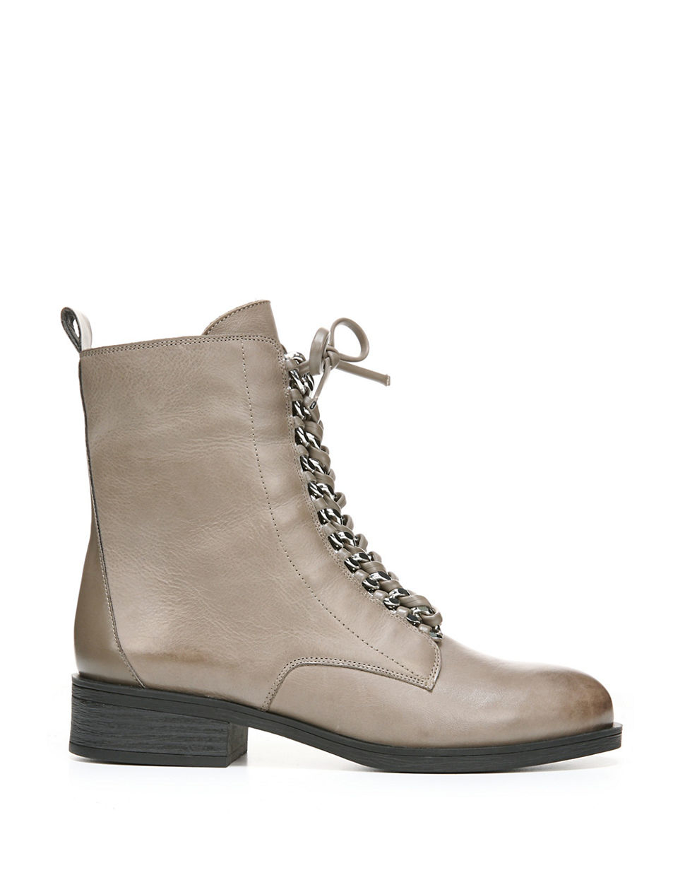 Fergie Nemo Leather Ankle Boots in Gray - Lyst Fergie Shoes