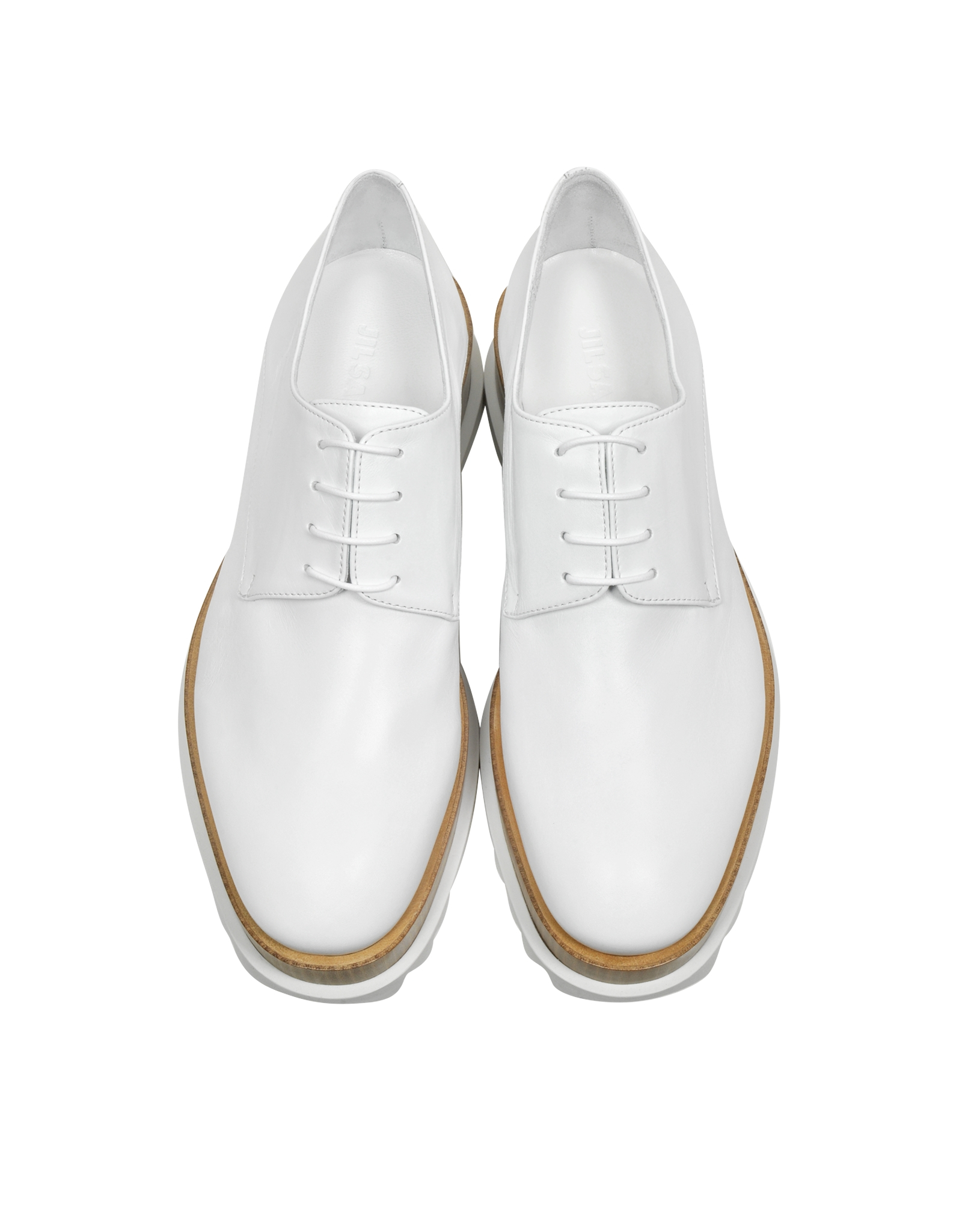 Leather Brogues - White Jil Sander