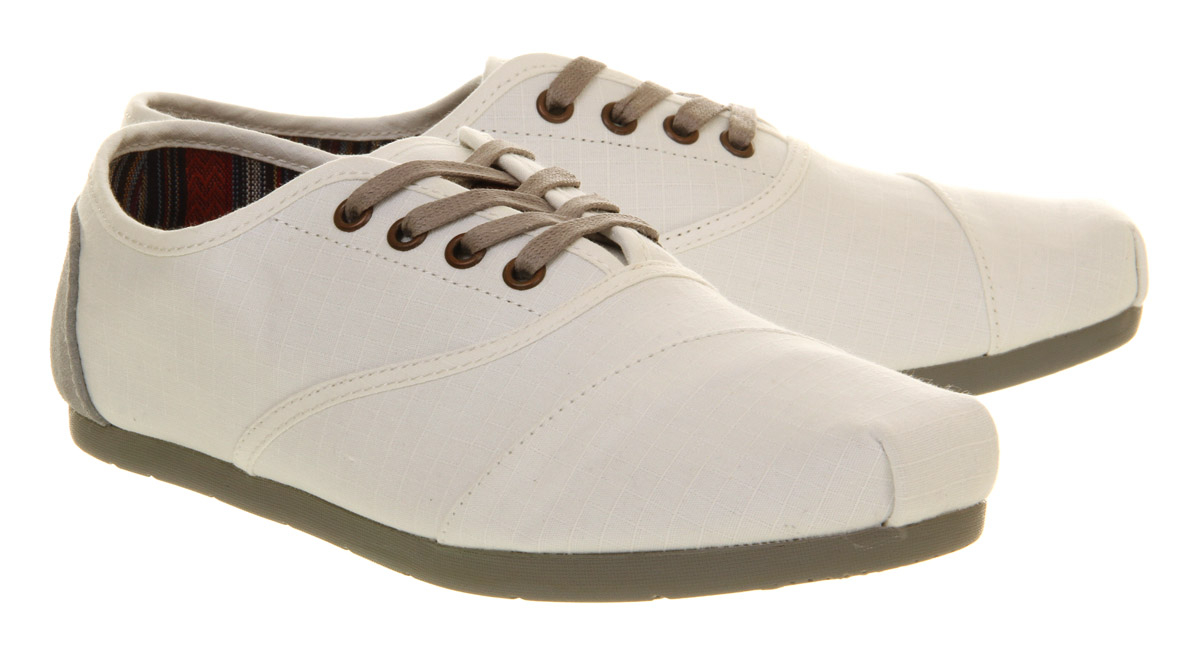 Lyst Toms Toms Cordones Lace White Alden In White For Men