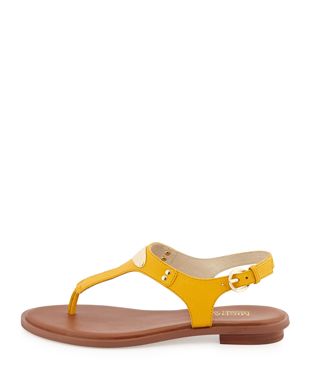 4ef1d9ddbb1 Lyst - MICHAEL Michael Kors Plate Thong Sandals in Yellow