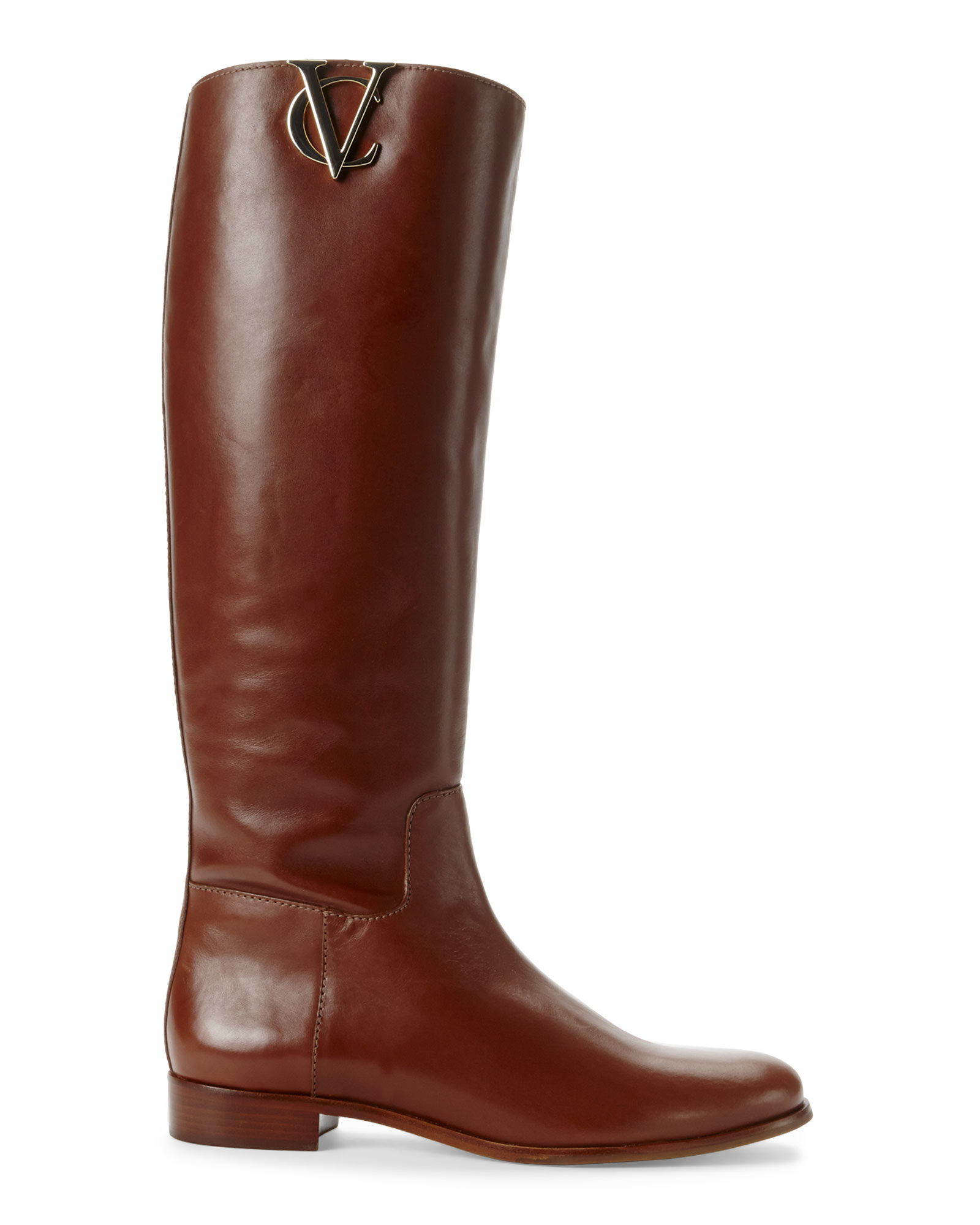 lyst vince camuto signature almond rena riding boots in