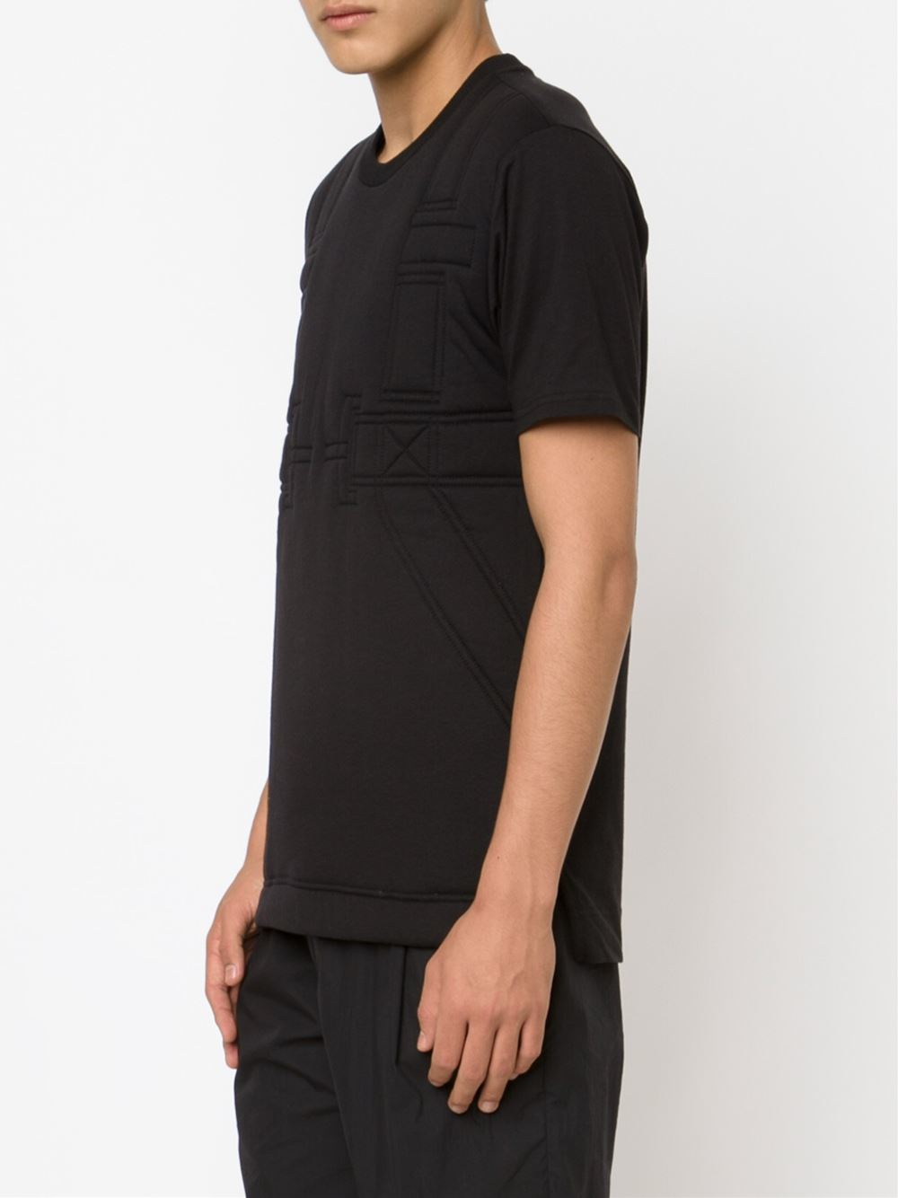 Black quilted t shirt - Gallery