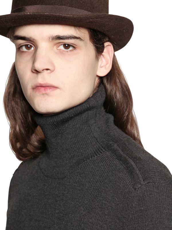 7a2946214 Lyst - John Varvatos Ribbed Merino Wool Turtleneck Sweater in Gray