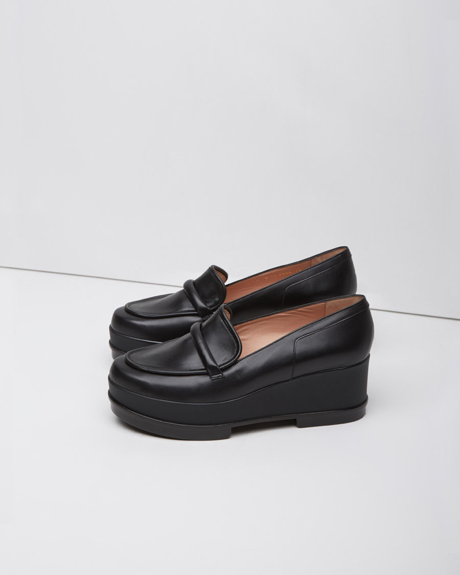 15b9d70a650 Lyst - Robert Clergerie Yokole Wedge Loafer in Black
