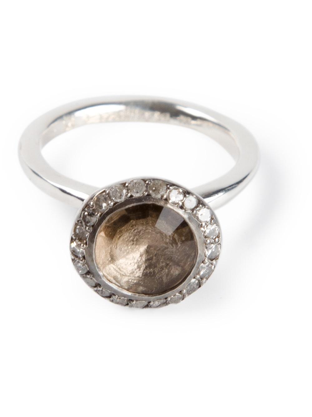 Rosa Maria smokey quartz and diamond ring - Metallic tAFLw2