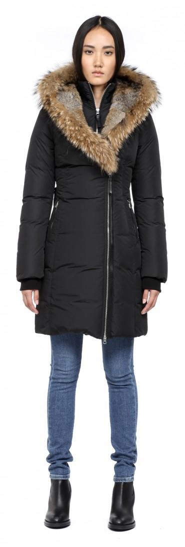 Mackage Trish F4 Black Long Winter Down Coat With Fur Hood