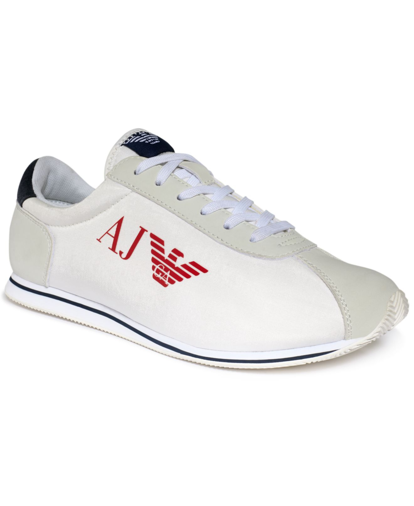 lyst armani jeans eagle sneakers in white for men. Black Bedroom Furniture Sets. Home Design Ideas