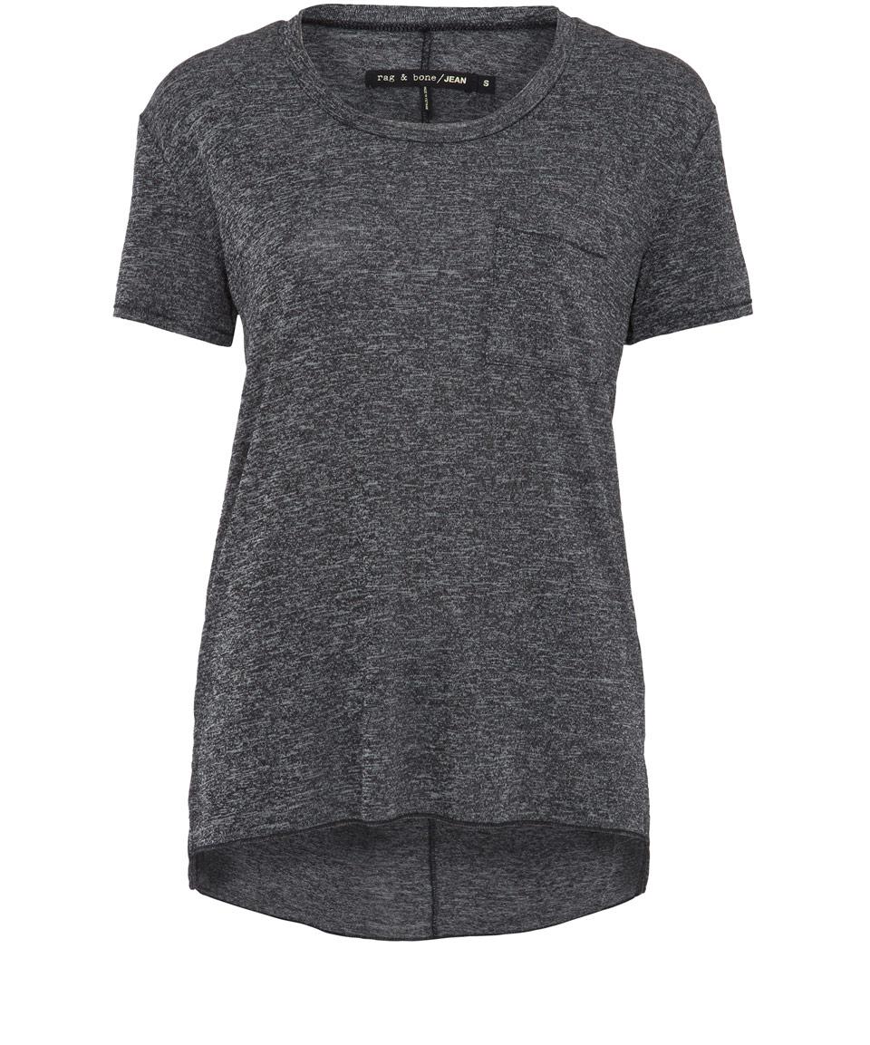 Rag bone grey melange t shirt in gray lyst for Rag and bone t shirts