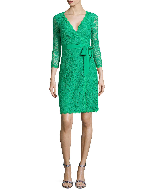 Diane von furstenberg amelia lace wrap dress