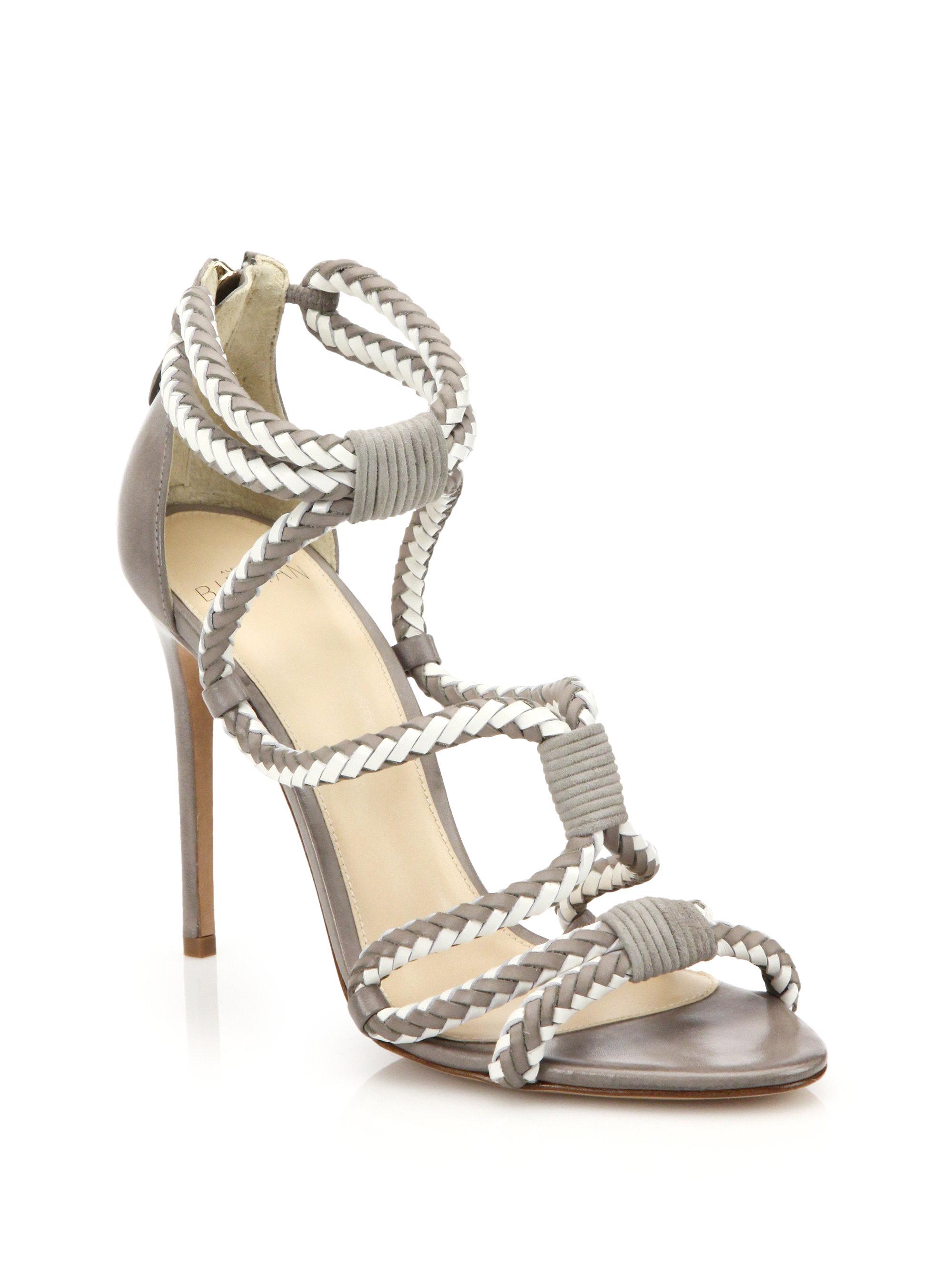 Lyst Alexandre Birman Braided Suede Sandals In Gray