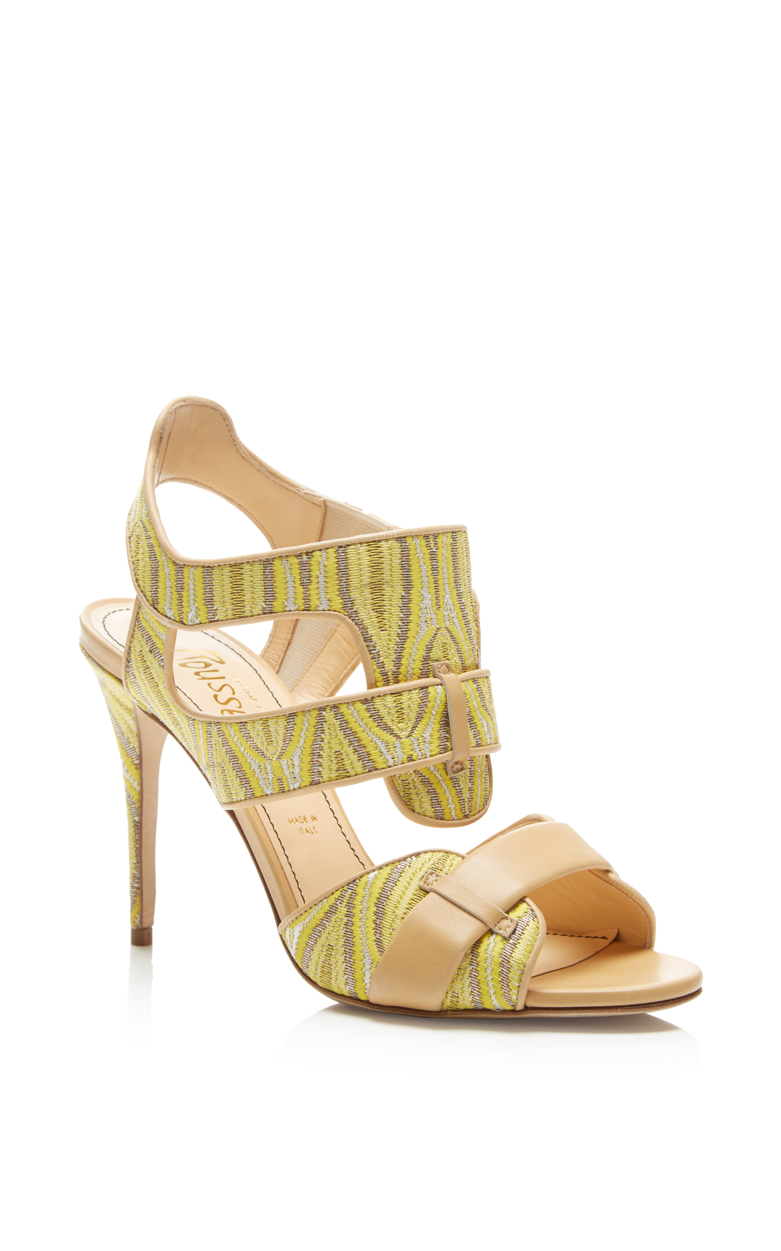 Pre-owned - Yellow Leather Heels Jerome Rousseau uerh6pGvN5