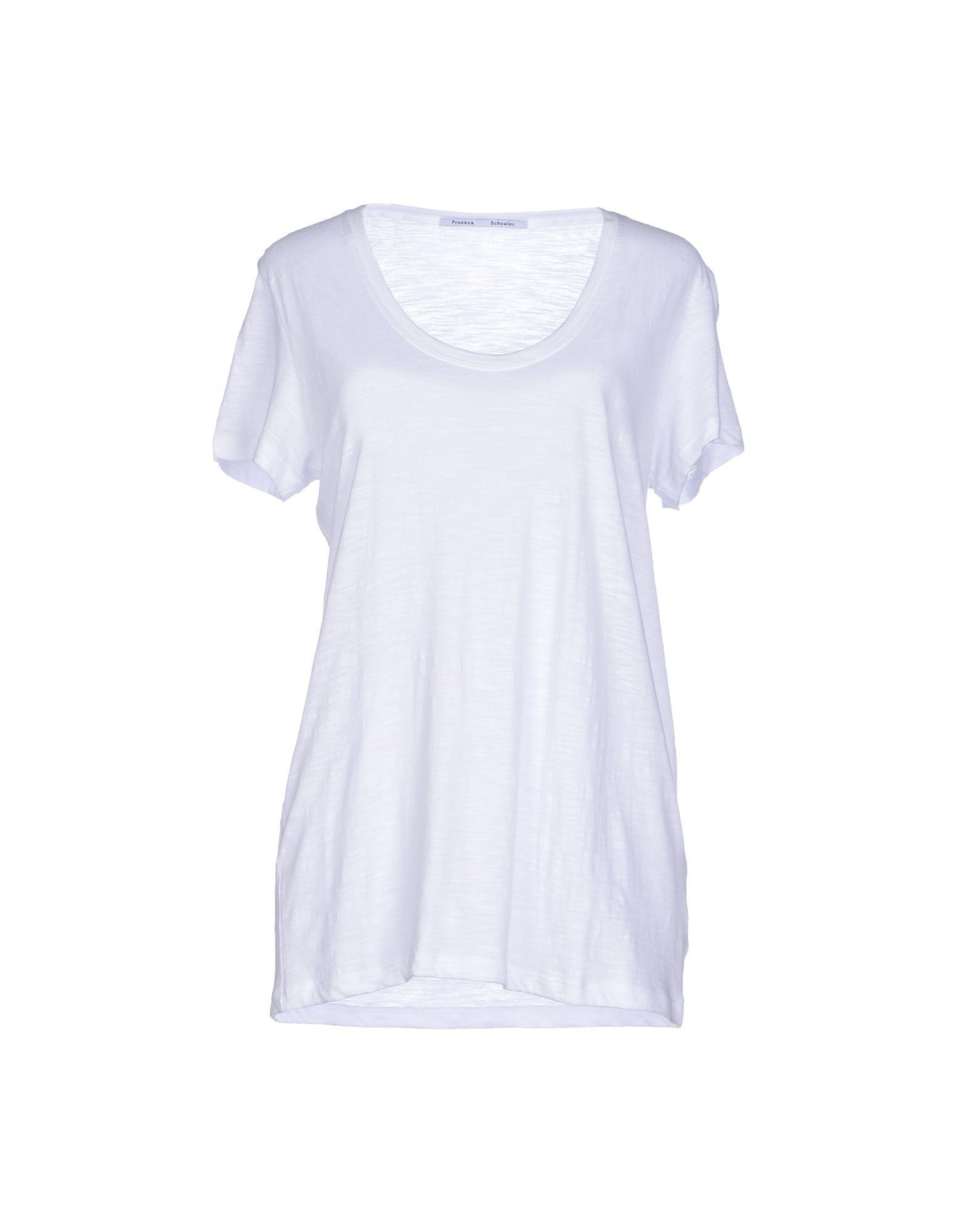 proenza schouler t shirt in white lyst