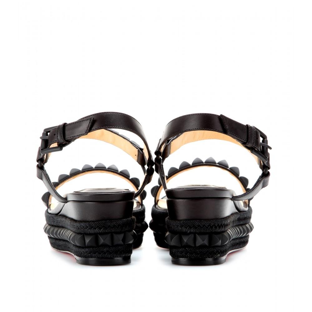 imitation christian louboutin shoes - christian louboutin studded espadrille platform sandals, christian ...