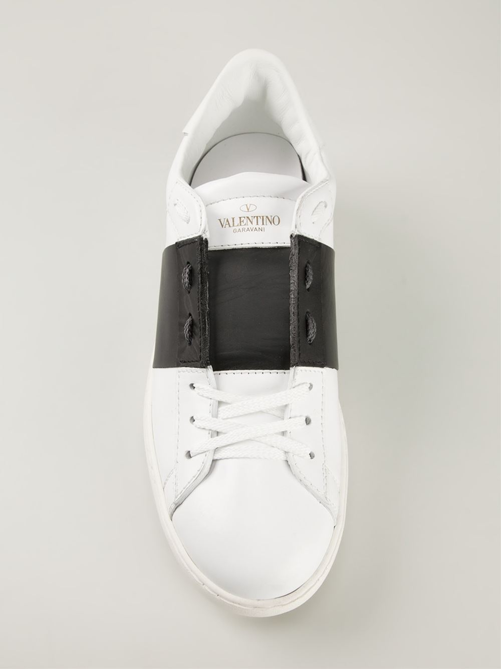 White and black Open sneaker Valentino e2qYde