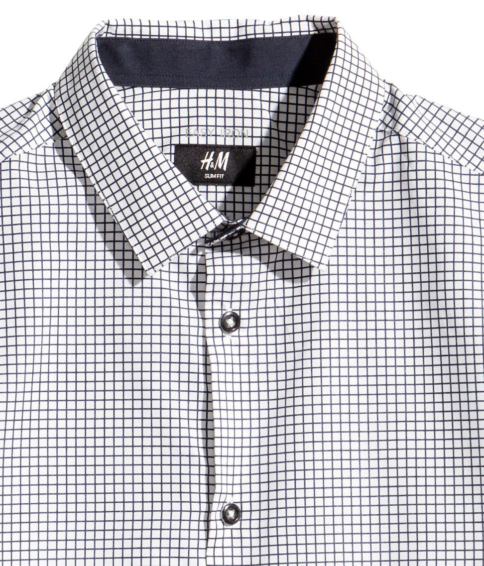 317b5b99f325 H&M Patterned Shirt Easy-iron in Black for Men - Lyst