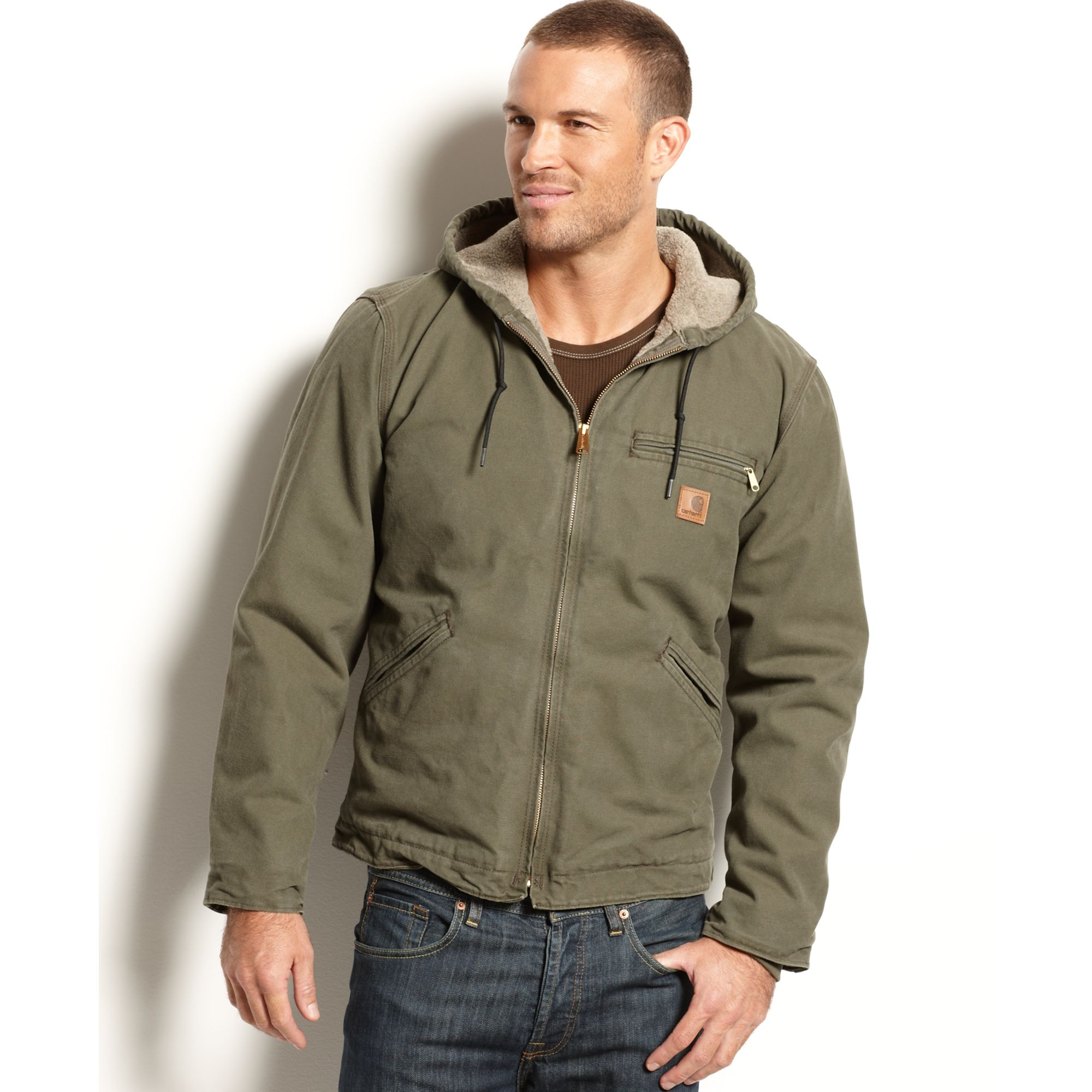 Carhartt Sandstone Duck Sierra Jacket In Green For Men