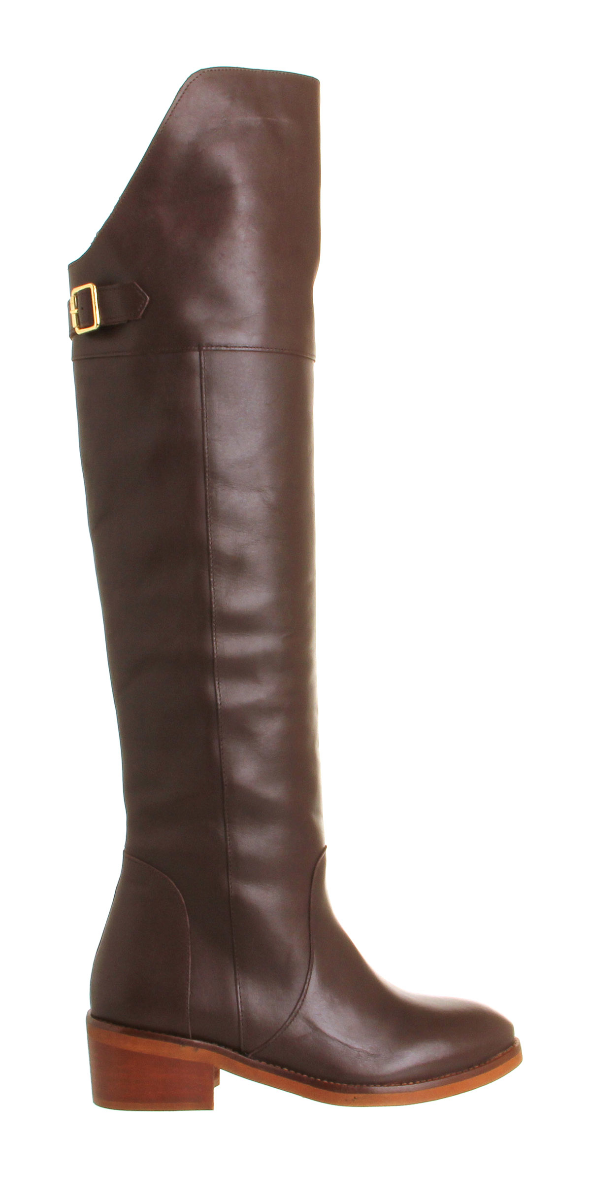 office nocturnal the knee boots in brown lyst