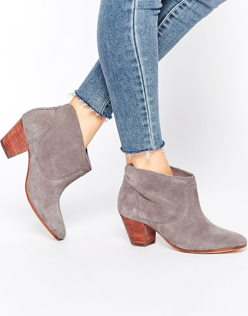 H by hudson Kivar Grey Suede Ankle Boots - Grey in Brown | Lyst