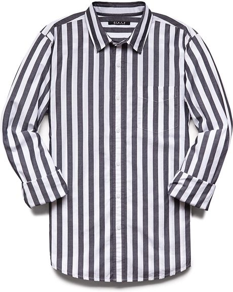 Forever 21 Vertical Striped Classic Fit Shirt in White for ...