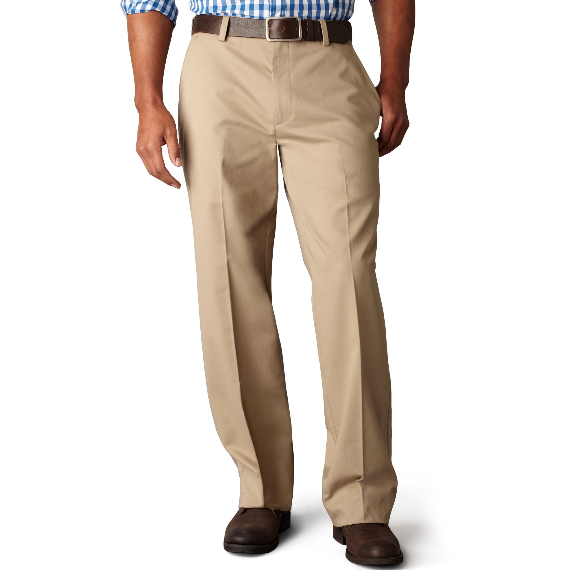 Dockers Easy Khaki Classic Fit Flat Front Pants In Natural