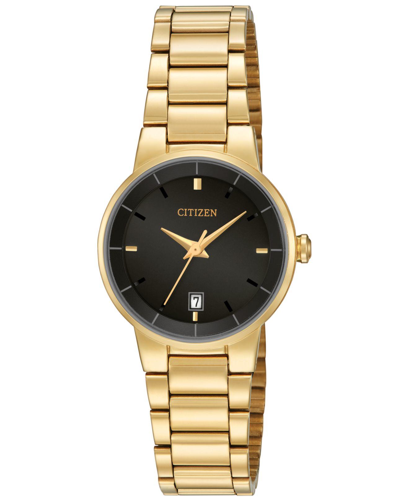 Citizen Women's Gold-tone Stainless Steel Bracelet Watch ...