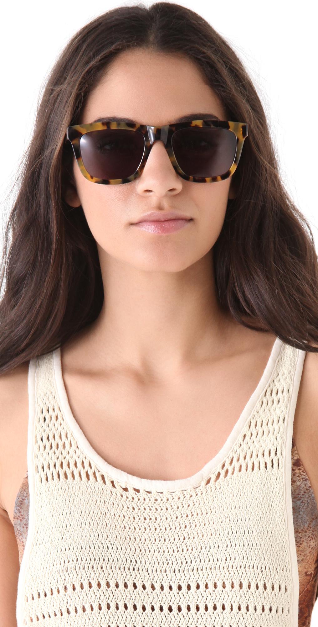 055ef92de54f Lyst - Karen Walker Deep Freeze Sunglasses in Brown
