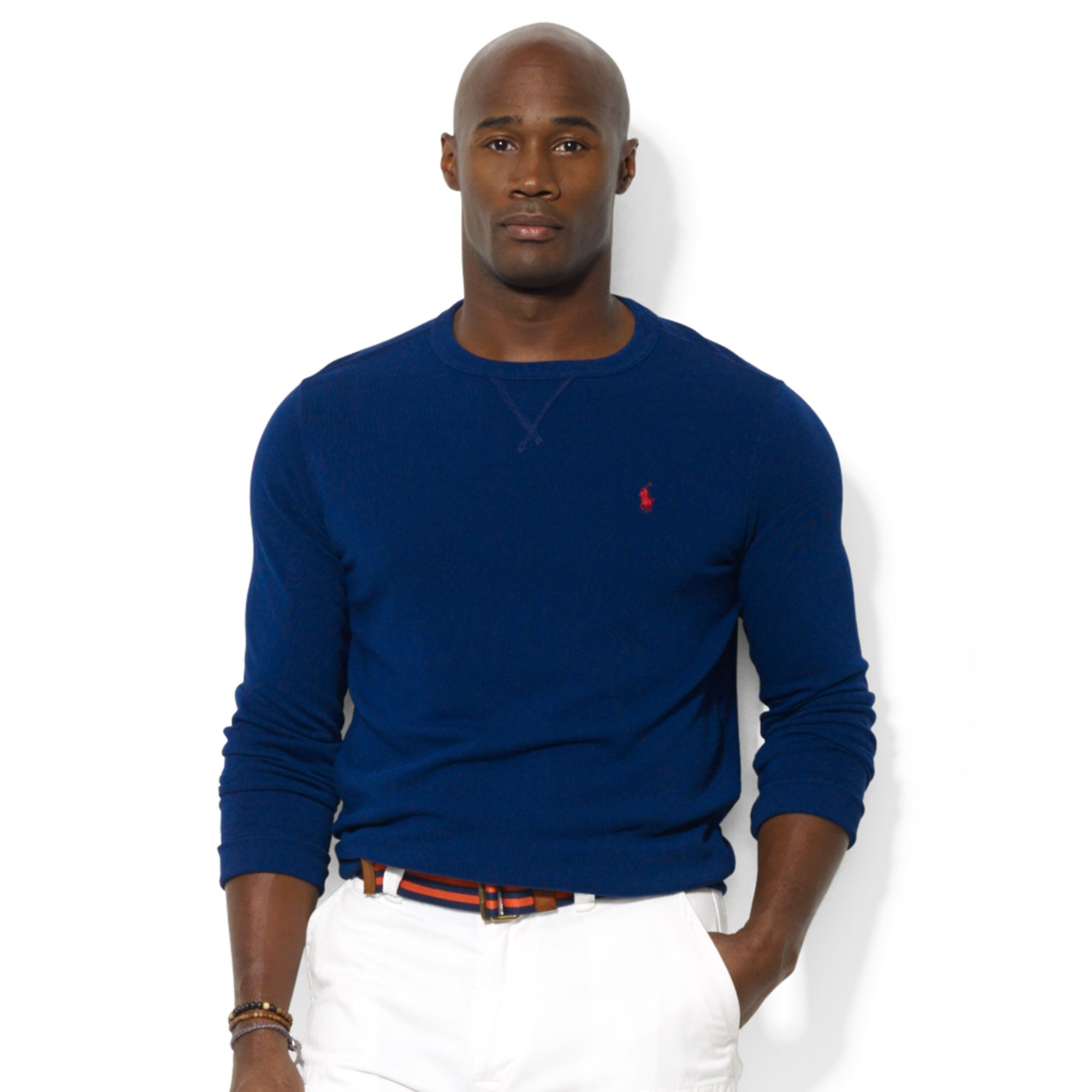Ralph lauren polo big and tall classicfit vneck for Big and tall polo t shirts