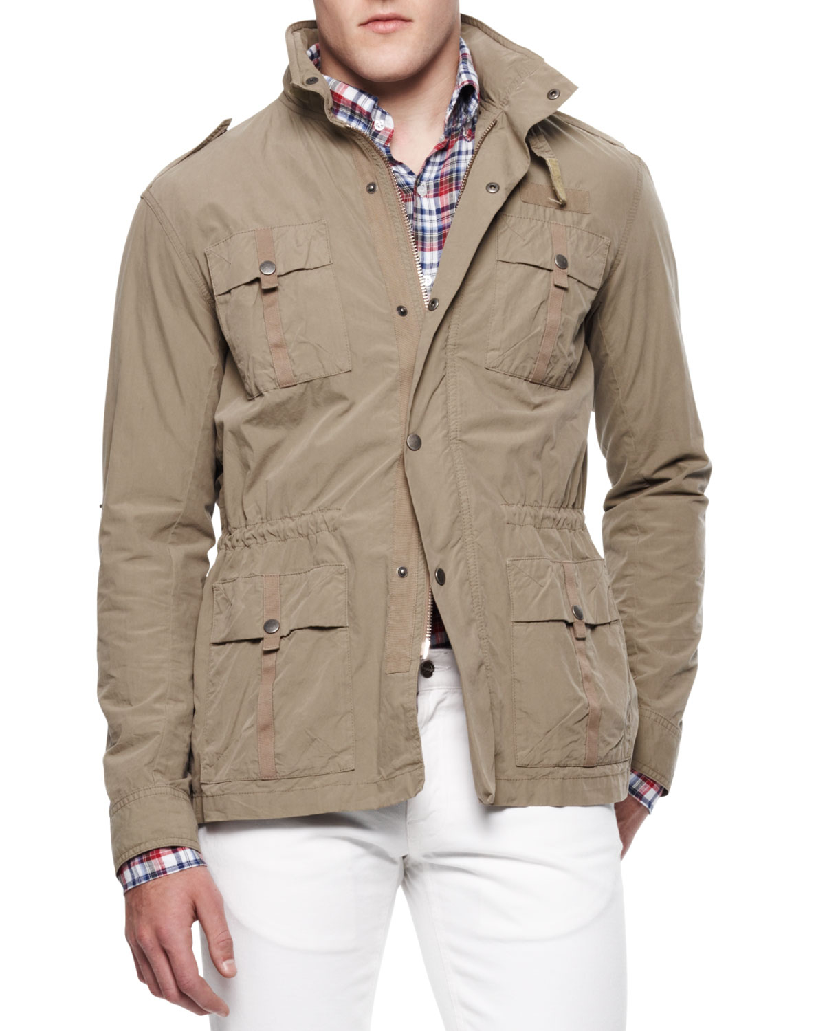 f0fa6ace212 Lyst - Michael Bastian Four-pocket Twill Military Jacket in Brown ...