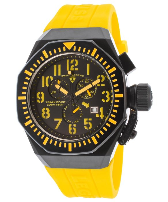Swiss Legend Tri Mix Yellow : Lyst swiss legend mens trimix diver chronograph black
