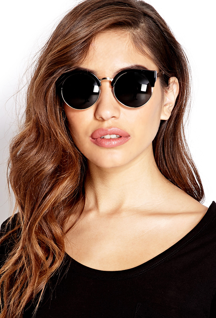 738afe3f3f Lyst - Forever 21 Chic Cateye Sunglasses in Black