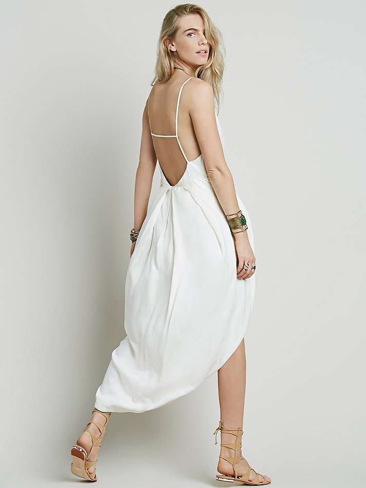 Summer Solid Pockets Dresses Plus Size Cocoon Sleeveless: Free People Womens Summer Lady Solid Dress In White