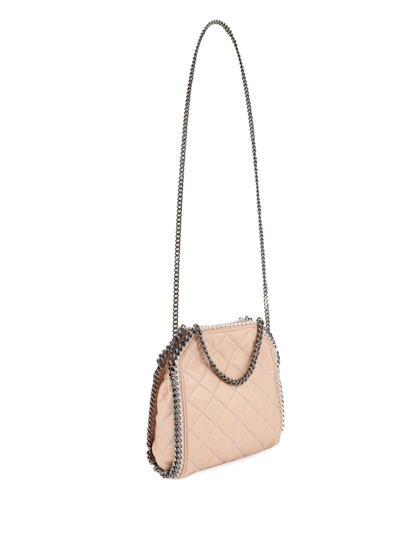 a11aaeed02 Lyst - Stella McCartney Falabella Mini Quilted Cross-Body Bag in Natural