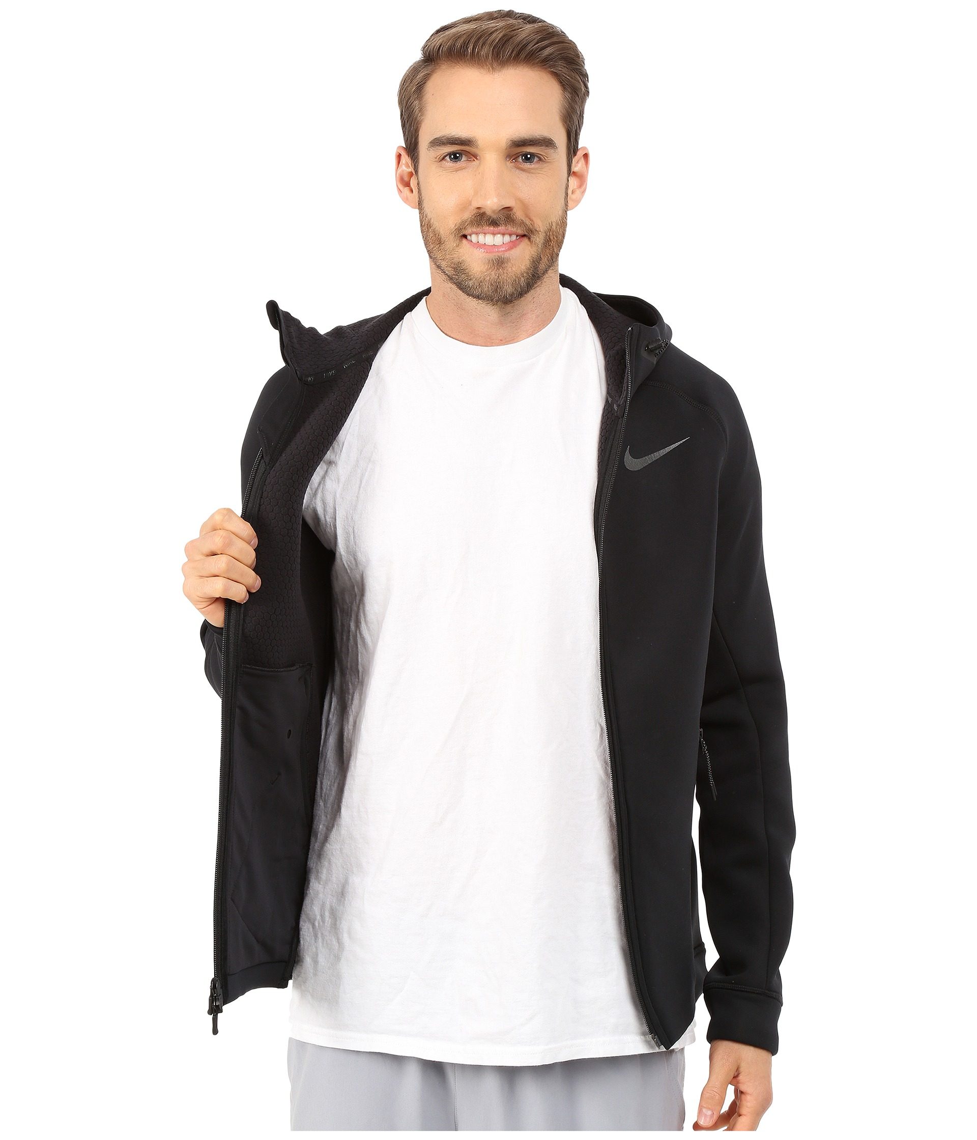 0c3fd2813dc1 Lyst - Nike Therma-sphere Max Training Jacket in Black for Men