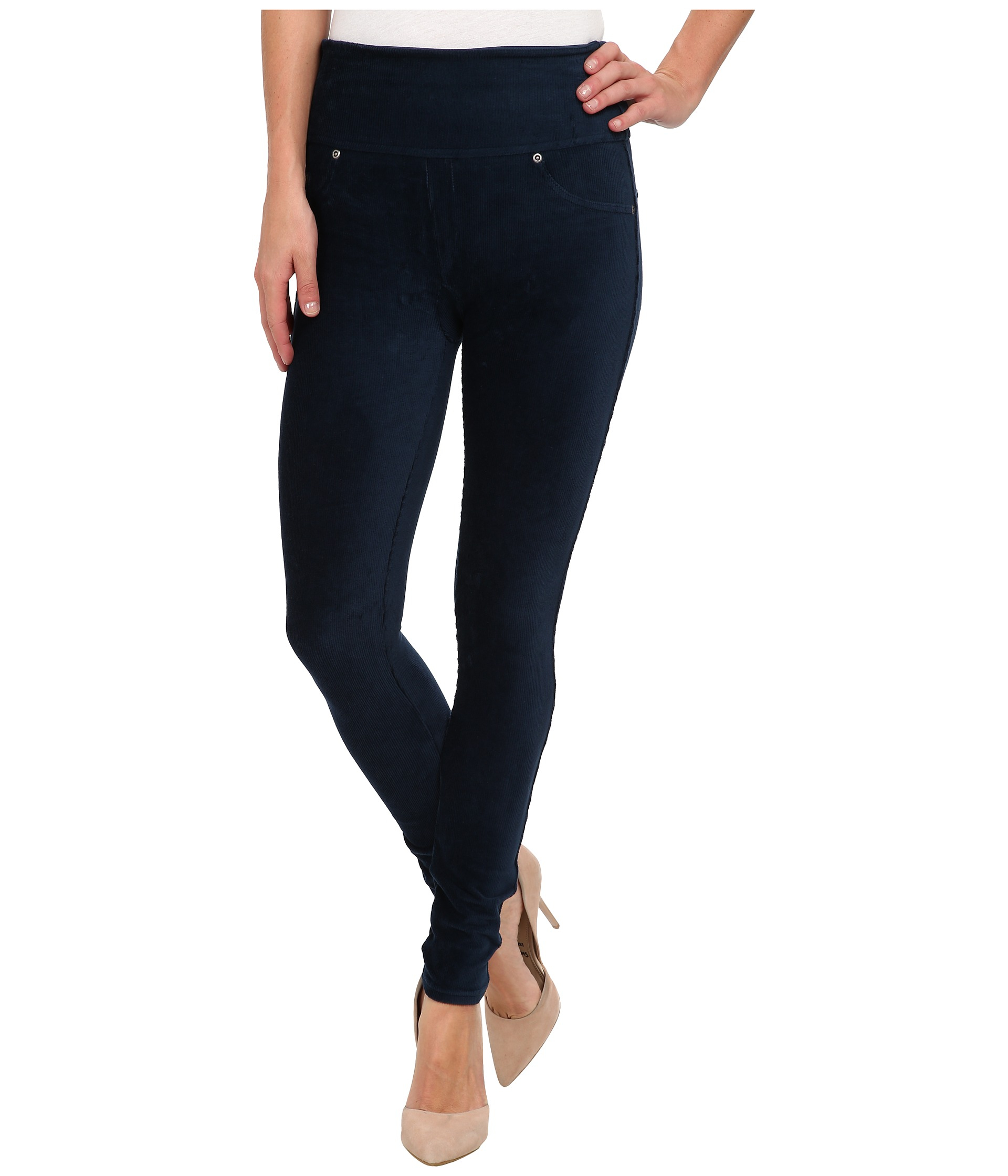 102c714479d542 Spanx Ready-to-wow Cord Leggings in Blue - Lyst