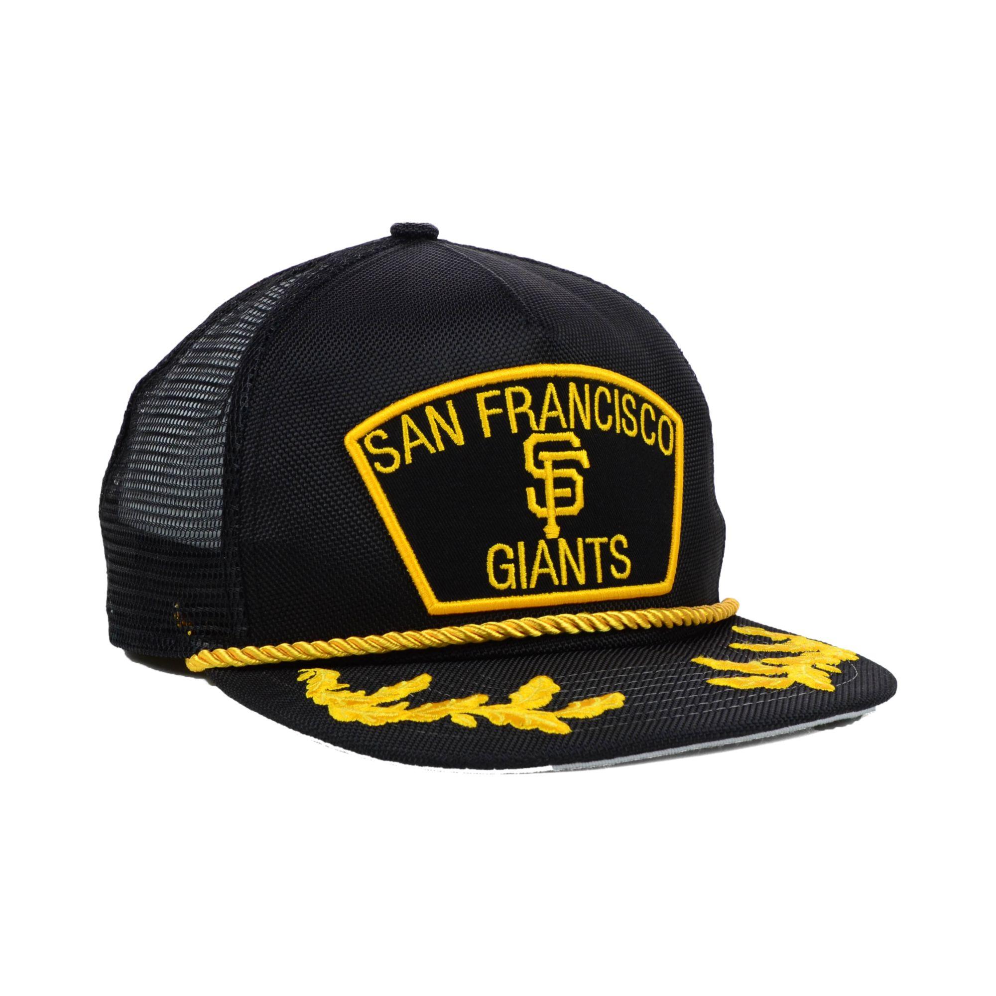 a2d28d2f57a ... italy lyst ktz san francisco giants mlb 9fifty snapback cap in black  for men 1252d 81574