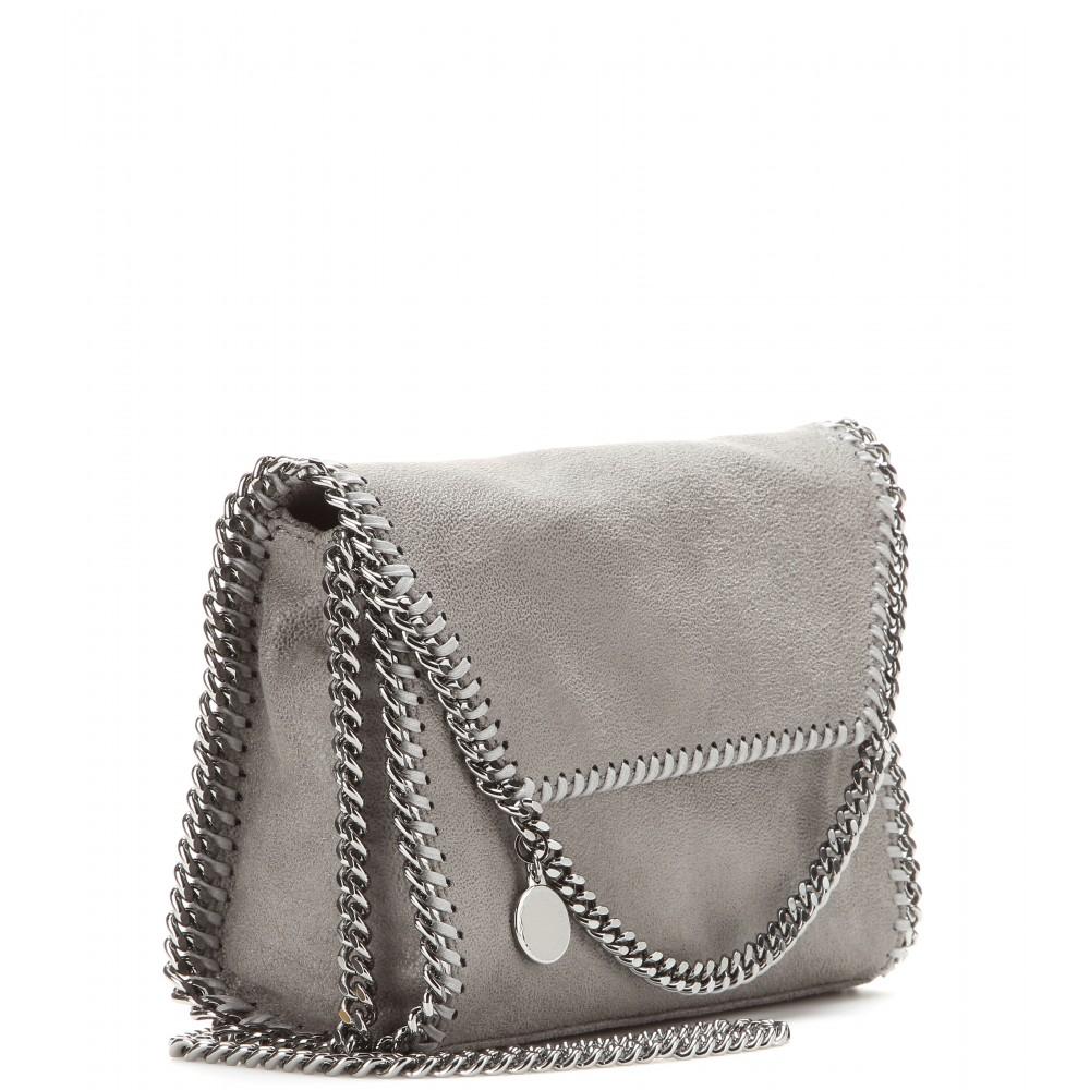 53d0d3908a8b Stella McCartney Falabella Shaggy Deer Shoulder Bag in Gray - Lyst
