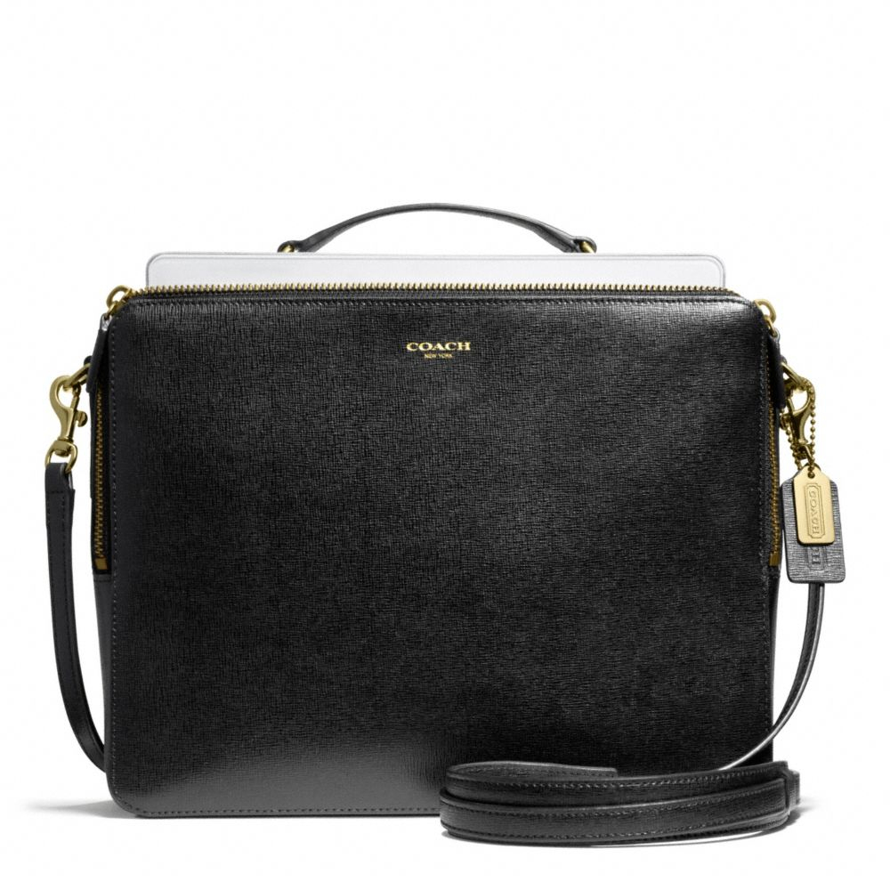 9a7e681d62ec ... bag af24a b67df new zealand lyst coach ipad crossbody in saffiano  leather in black 58231 b9229 ...