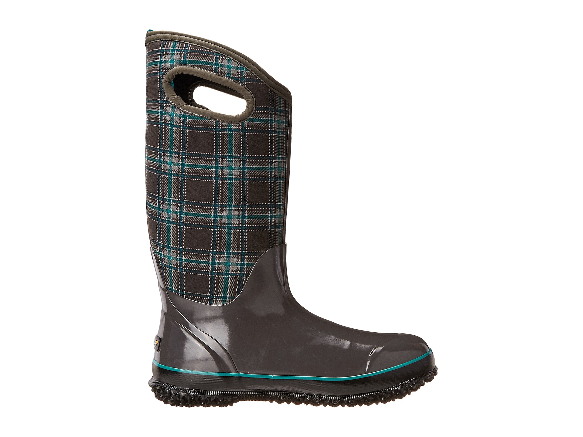 Bogs Classic Winter Plaid Tall In Gray Lyst