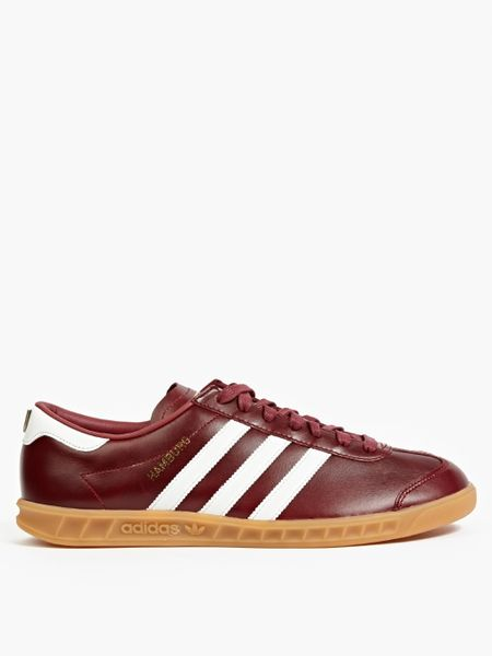 adidas originals burgundy hamburg 39 made in germany 39 sneakers in purple for men lyst. Black Bedroom Furniture Sets. Home Design Ideas