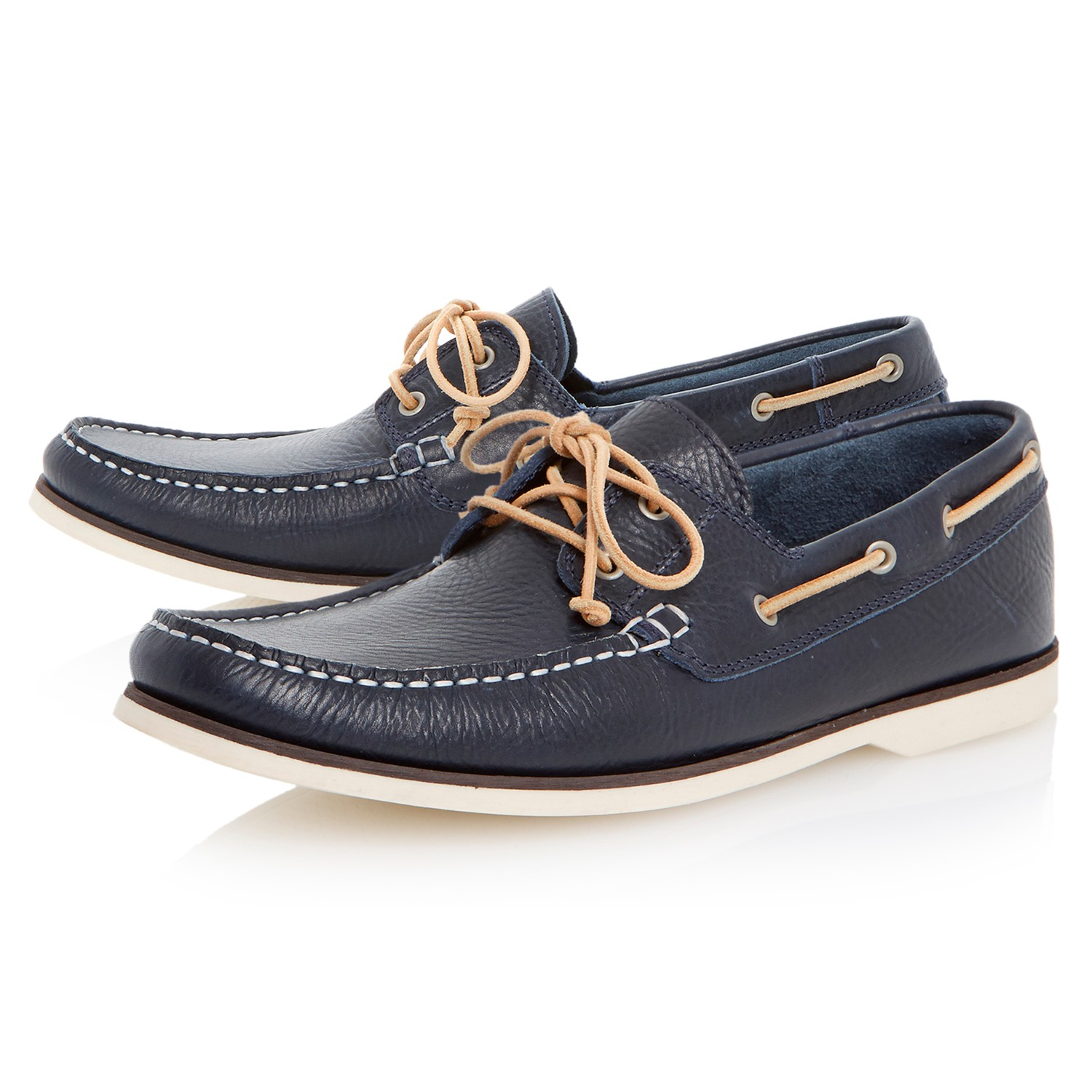 bertie battleship slip on casual boat shoes in black for