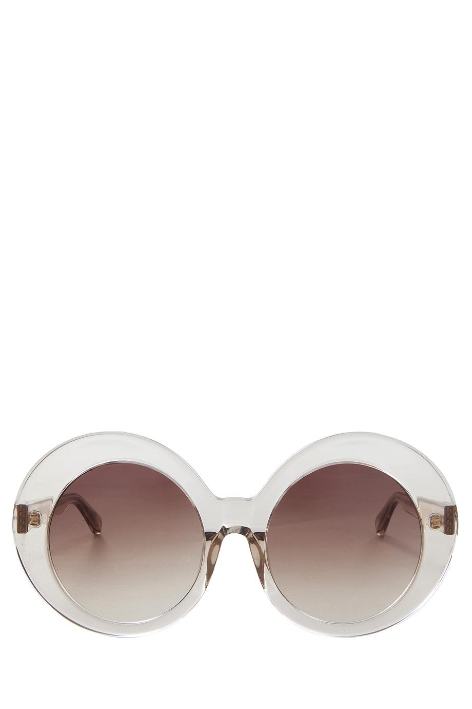 Linda Farrow  Pink Acetate Round Sunglasses  Lyst