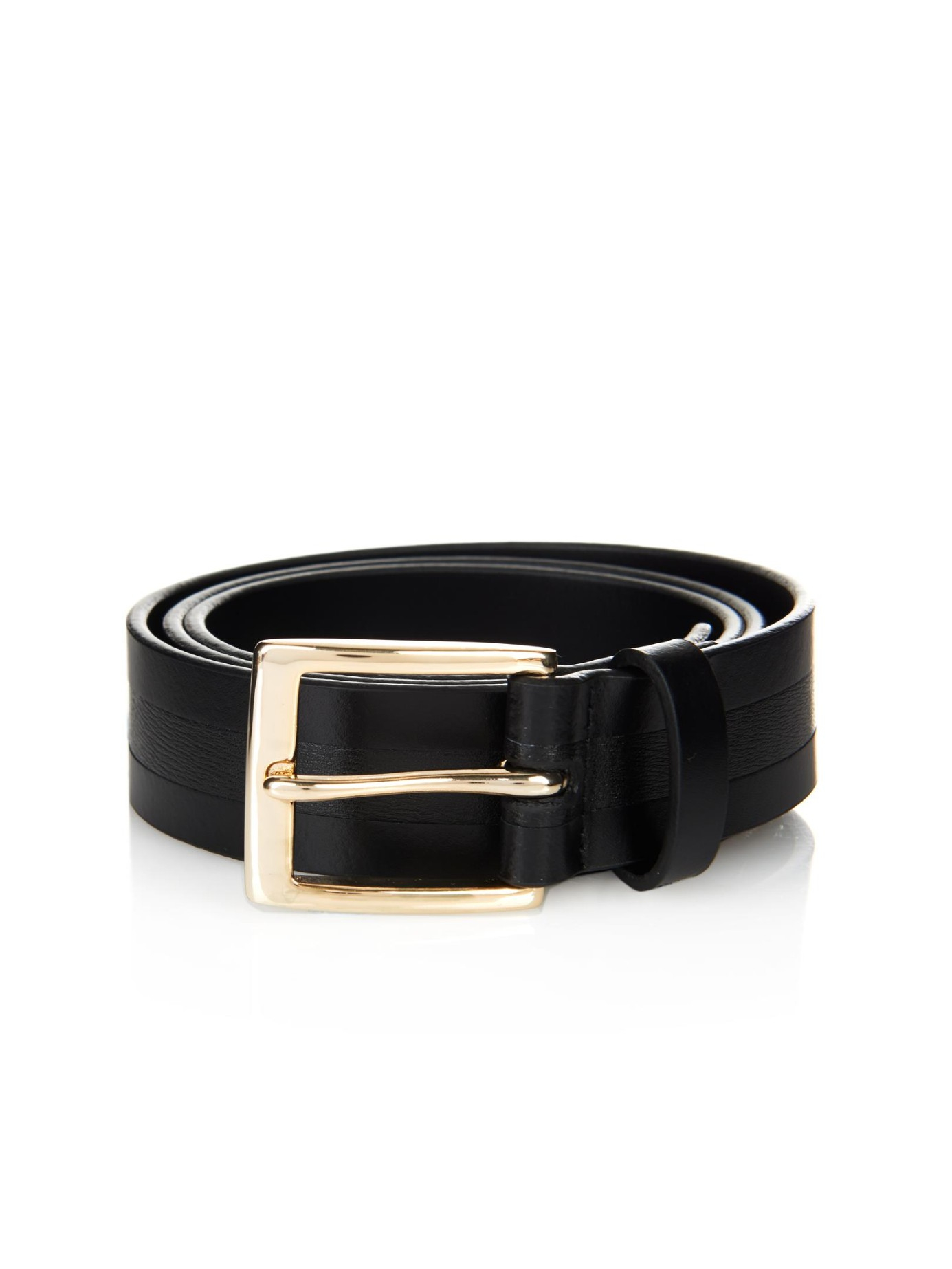 paul smith embossed leather belt in black for lyst