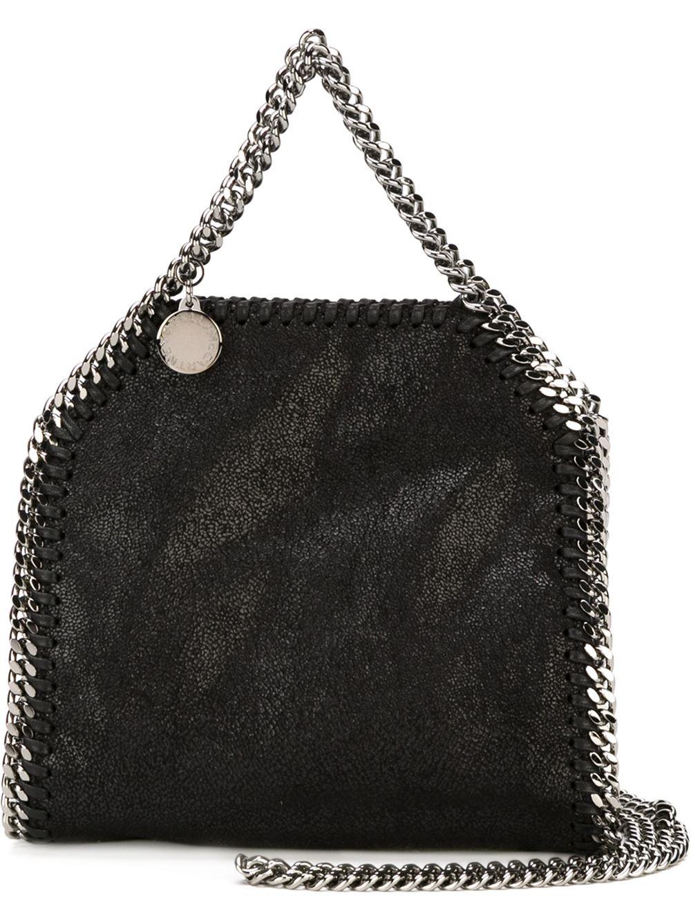 stella mccartney falabella mini tote in black lyst. Black Bedroom Furniture Sets. Home Design Ideas