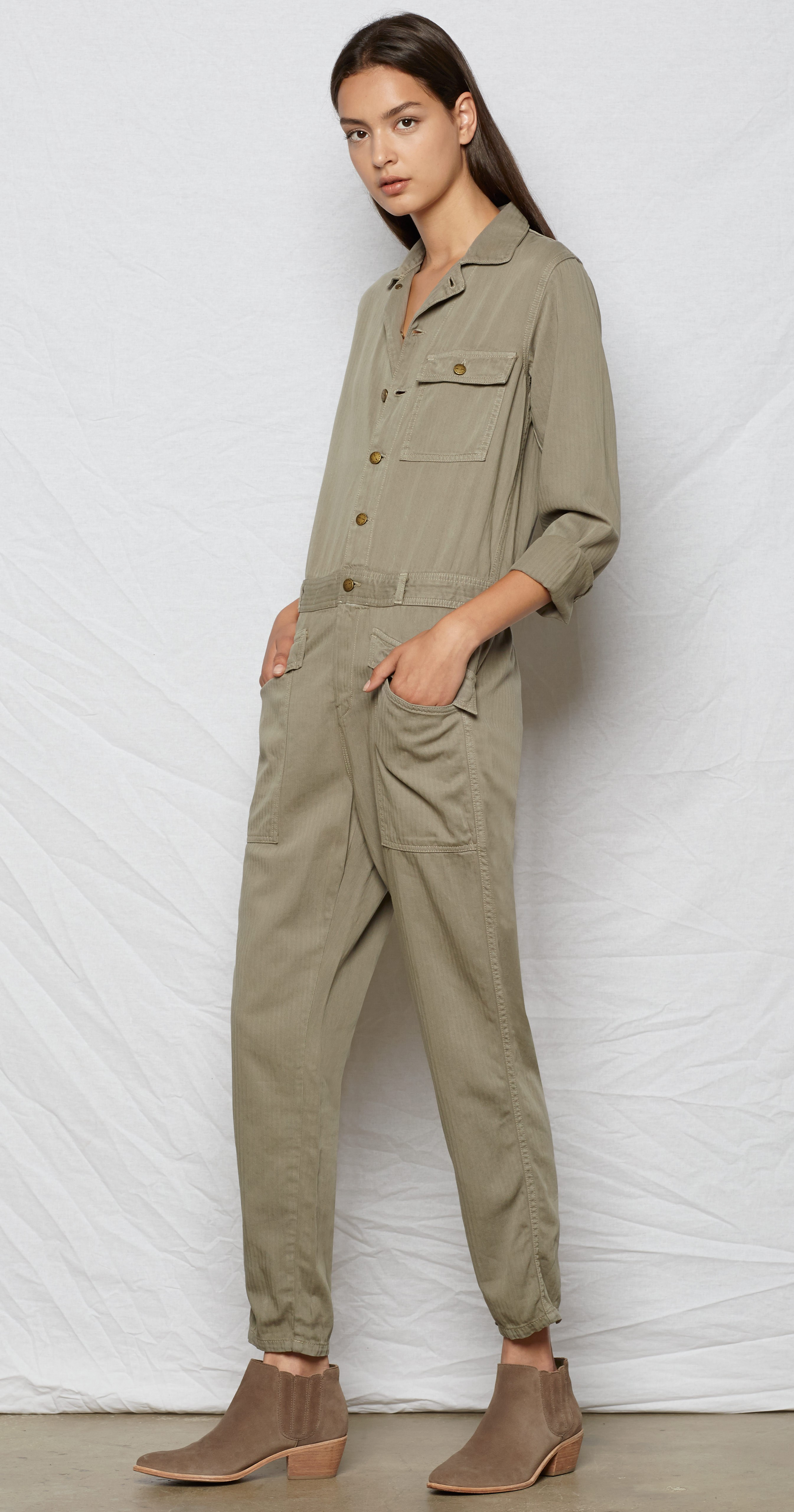 f0281d8e115d Lyst - Current Elliott The Rosie Coverall in Green