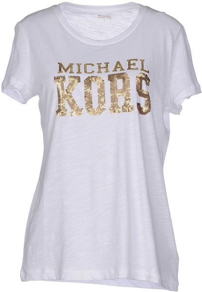 michael michael kors t shirt in white. Black Bedroom Furniture Sets. Home Design Ideas