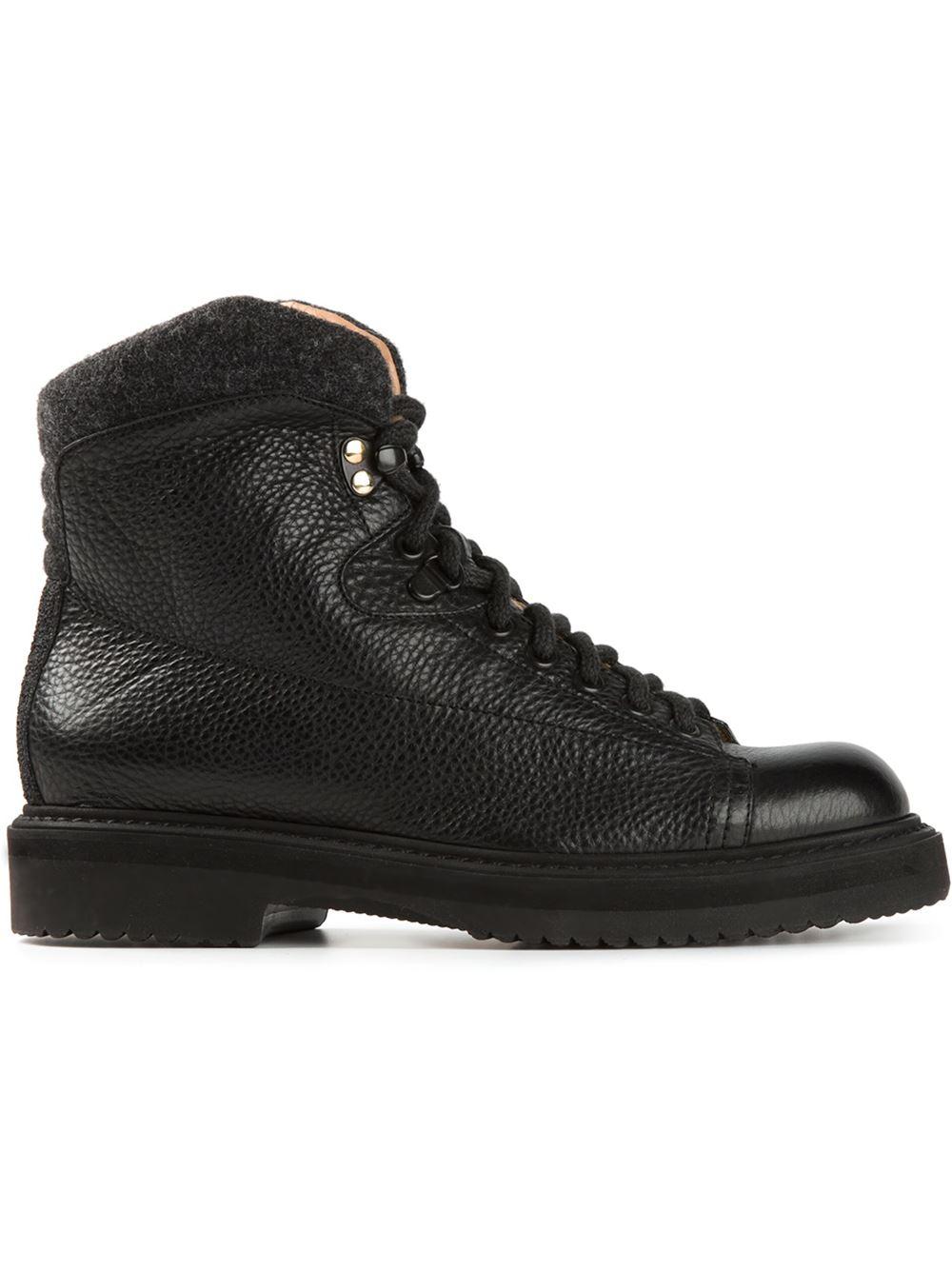 santoni hiking boots in black lyst