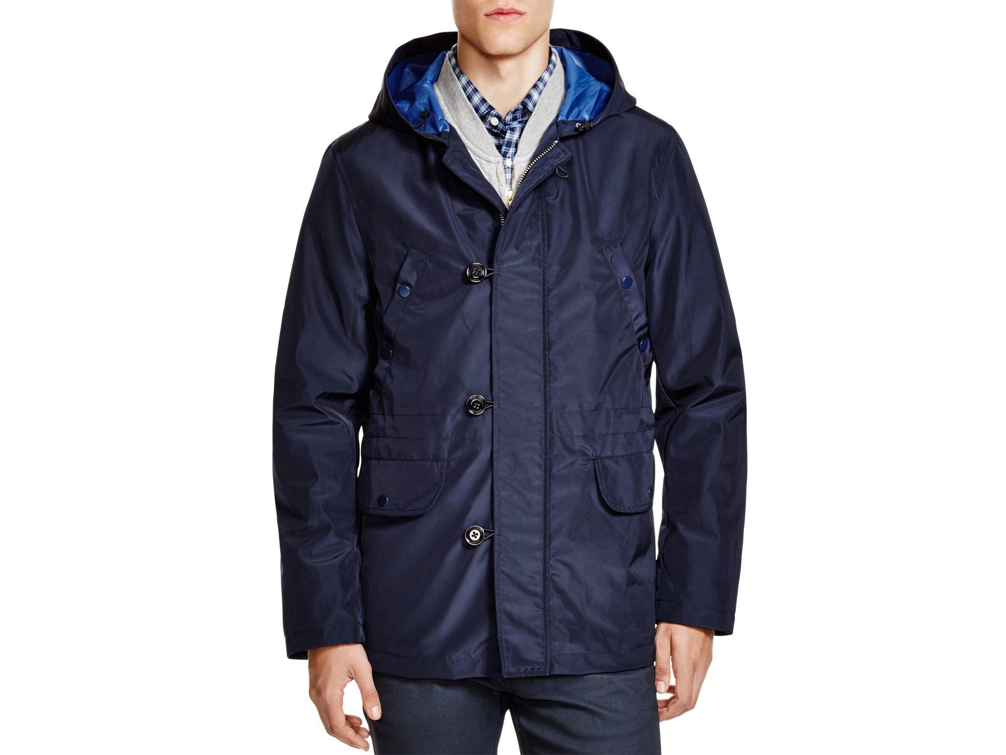 Gant rugger Lightweight Hooded Parka in Black for Men | Lyst