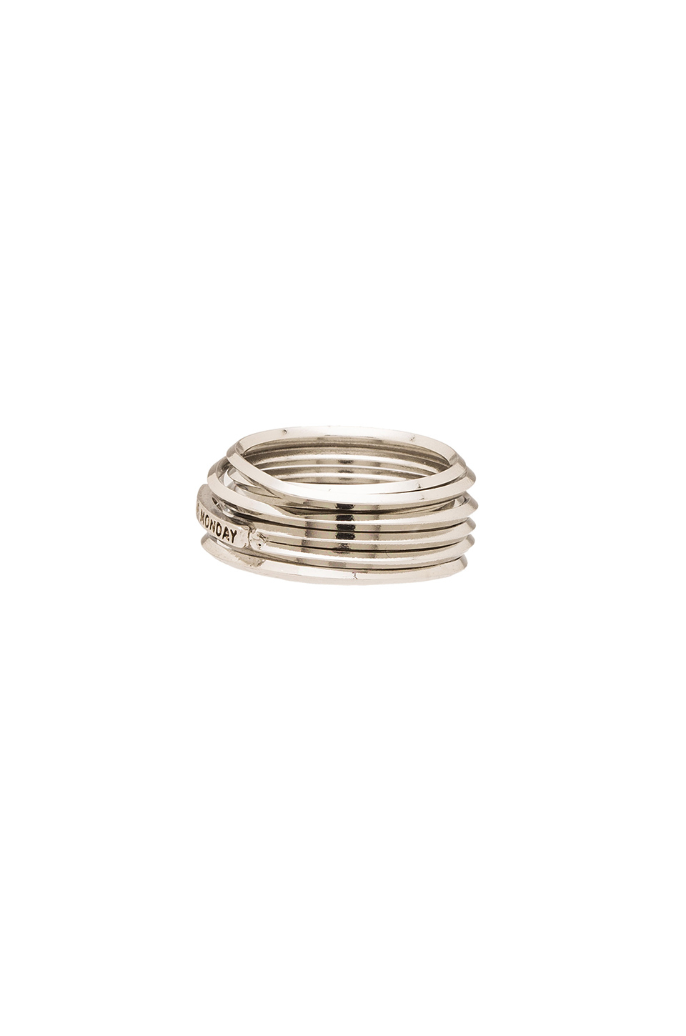 cheap monday wired ring in metallic lyst