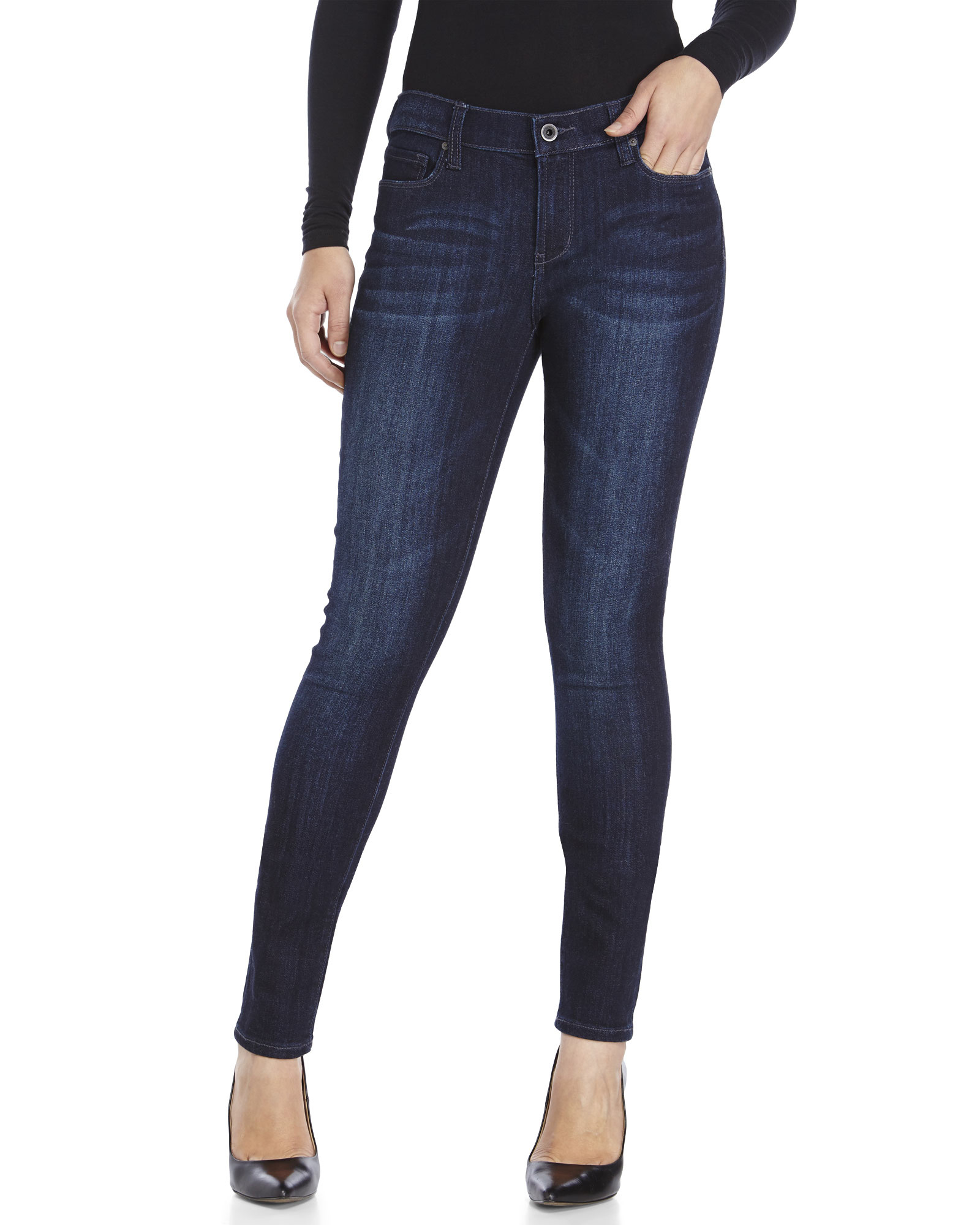 Dkny Pristine Dark Wash City Ultra Skinny Jeans in Blue | Lyst