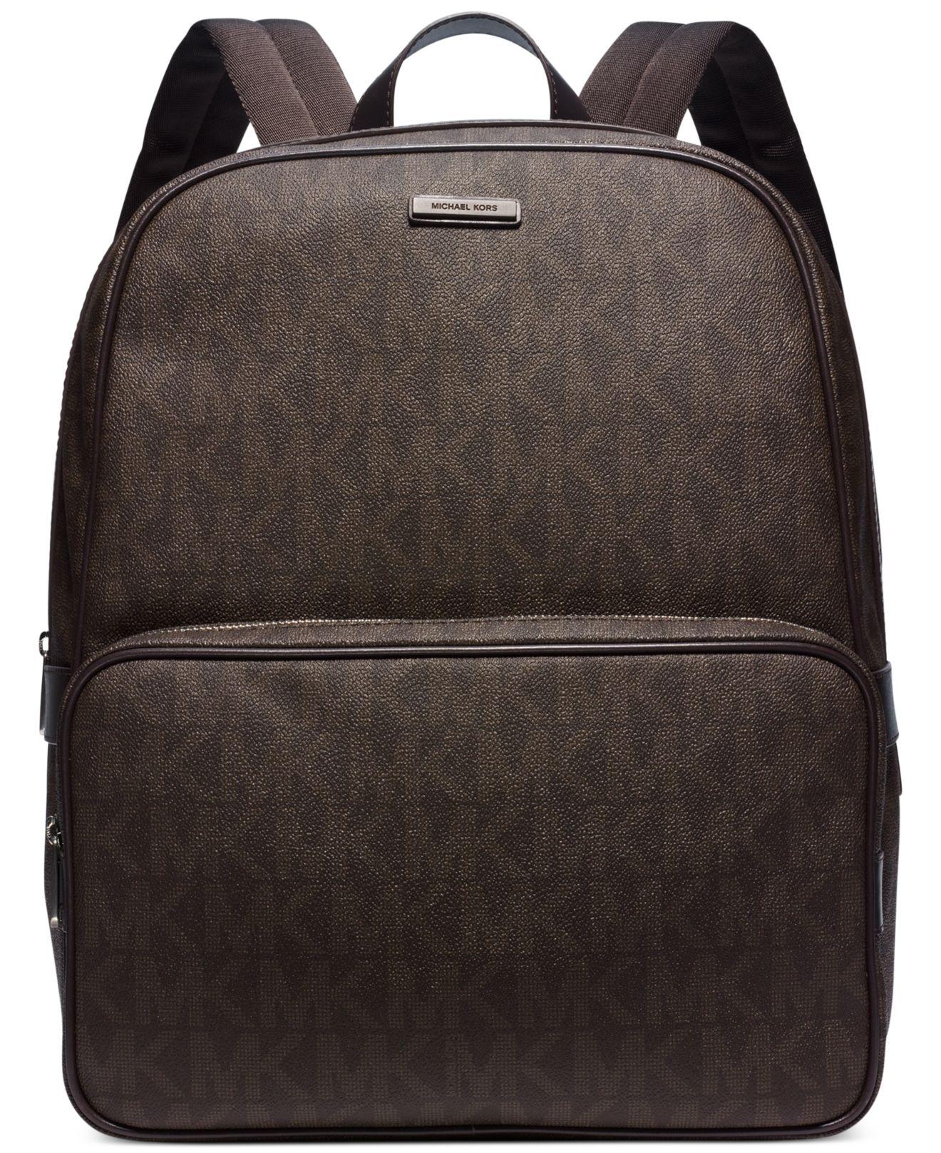 fafe7bfa6b42 Lyst - Michael Kors Jet Set Shadow Backpack in Brown for Men